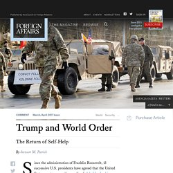 Trump and World Order