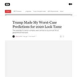 Trump Made My Worst-Case Predictions for 2020 Look Tame