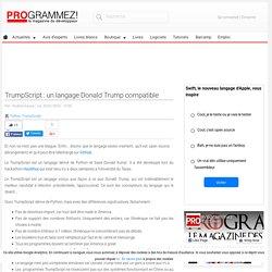 TrumpScript : un langage Donald Trump compatible