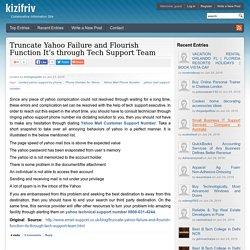 Truncate Yahoo Failure and Flourish Function It s through Tech Support Team - Kizifriv