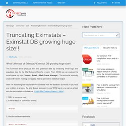 Truncating Eximstats - Eximstat DB growing huge size!!