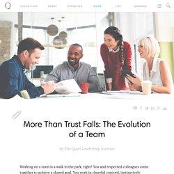 More Than Trust Falls: The Evolution of a Team - Quiet Revolution