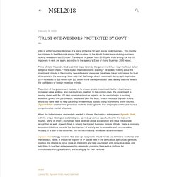 TRUST OF INVESTORS PROTECTED BY GOVT