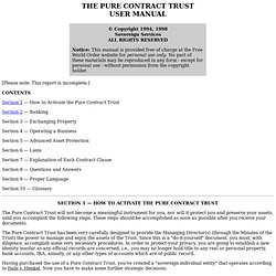 Trust Reports - Pure Contract Trust User Manual