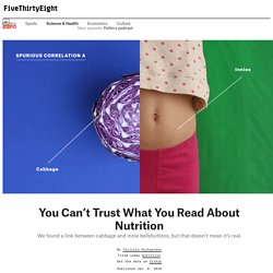 You Can't Trust What You Read About Nutrition