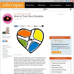 How to Trust Your Students