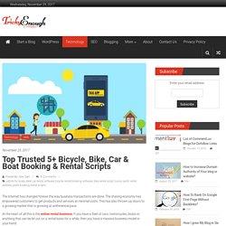 Top Trusted 5+ Bicycle, Bike, Car & Boat Booking & Rental Scripts