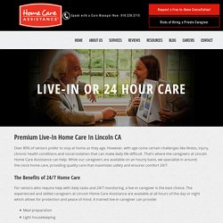 Your Trusted Choice for Live-In Care in Placer County
