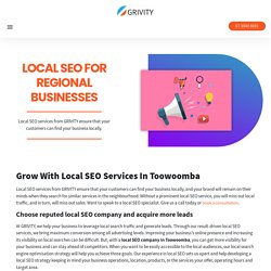 Most Trusted Local SEO Company In Toowoomba - GRIVITY
