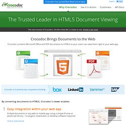 The Trusted Leader in HTML5 Document Viewing