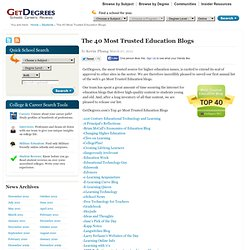 40 Most Trusted Education Blogs