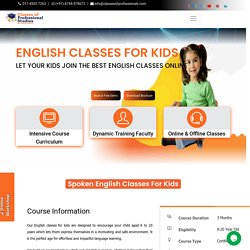 Most Trusted English Classes For Kids in Delhi [Online]