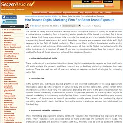 Hire Trusted Digital Marketing Firm For Better Brand Exposure