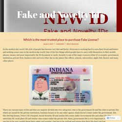 New IDs Provides the Finest Quality Fake Driver's Licenses