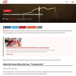 13 Most Trusted News Sites You Should Bookmark