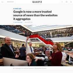Google is now a more trusted source of news than the websites it aggregates