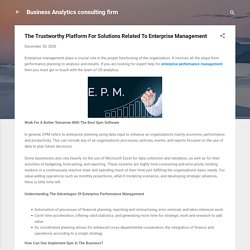 The Trustworthy Platform For Solutions Related To Enterprise Management