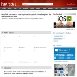 FSSAI registration consultant online service – Enterslice