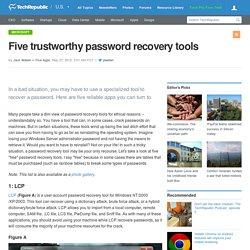 Five trustworthy password recovery tools