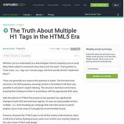 The Truth About Multiple H1 Tags in the HTML5 Era