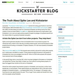 The Truth About Spike Lee and Kickstarter » The Kickstarter Blog