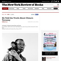 He Told the Truth About China's Tyranny by Simon Leys