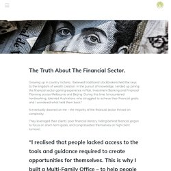 The Truth About The Financial Sector