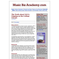 The Truth about NACA: Gigging on the College Circuit.