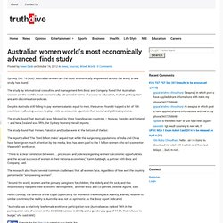 Australian women world's most economically advanced, finds study