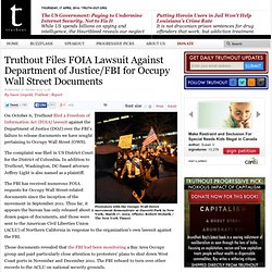 Truthout Files FOIA Lawsuit Against Department of Justice/FBI for Occupy Wall Street Documents