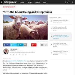 11 Truths About Being an Entrepreneur