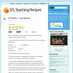 EFL Teaching Recipes