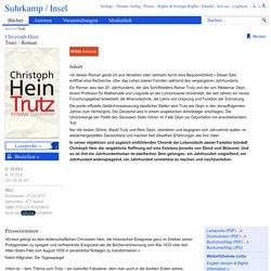 Trutz: Roman von Christoph Hein