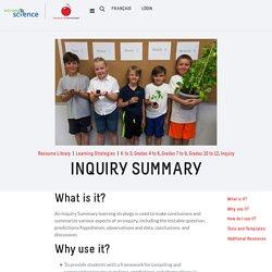 Try It! - Inquiry Summary