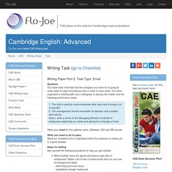 Try Flo-Joe's latest weekly CAE Writing task
