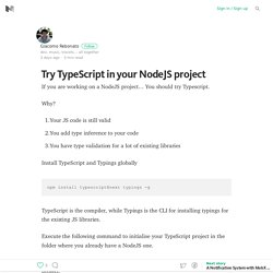 Try TypeScript in your NodeJS project