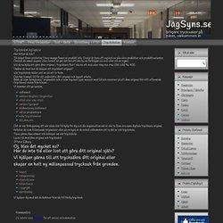 Tryckskolan från JagSyns.se – Din trycksakspartner på nätet… |Flyers, Posters, Folders, Reklamblad, Banderoller, Tidskrifter, Affischer, Broschyrer, Visitkort, Kuvert, Brevpapper