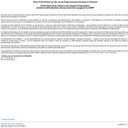 INVS 06/04/01 Point d'Information sur des cas de Trypanosomose Humaine en Tanzanie