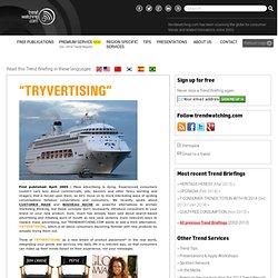 TRYVERTISING | An emerging consumer trend and related new business ideas