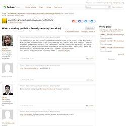 Wasz ranking portali o tematyce wnętrzarskiej - wzornictwo przemysłowe/meble/design/architektura - 473544