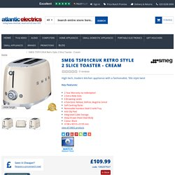 SMEG TSF01CRUK Retro Style 2 Slice Toaster Cream with Best Deals