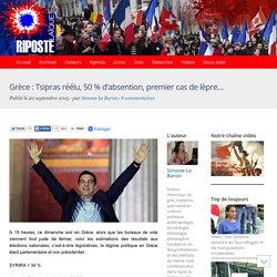 Grèce : Tsipras réélu, 50 % d'absention, premier cas de lèpre…