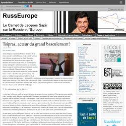 Tsipras, acteur du grand basculement?