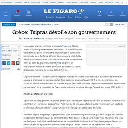 Grèce: Tsipras dévoile son gouvernement