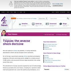Tsipras: the reverse shock doctrine