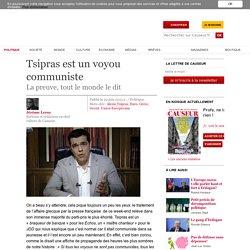 Tsipras est un voyou communiste