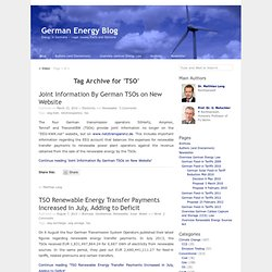 TSO « German Energy Blog