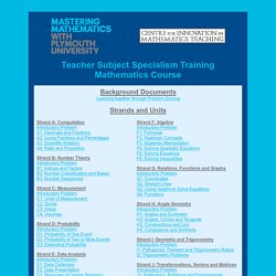 TSST Mathematics Course