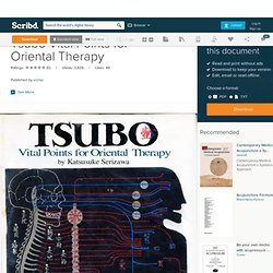 Tsubo Vital Points for Oriental Therapy
