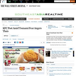 KFC Post Amid Tsunami Fear Angers Thais - Southeast Asia Real Time
